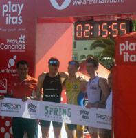Christian Manunzio 2. Platz bei Triathlon