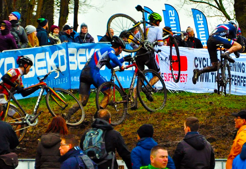 Tragepassage bei der Rad Cross WM in Hoogerheide